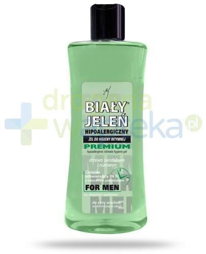 Biały Jeleń For Men Premium żel do higieny intymnej z ekstraktem z drzewa sandałowego i rozmarynu do skóry wrażliwej 250 ml