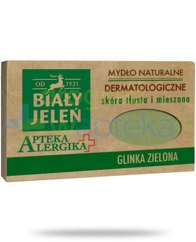 Biały Jeleń Apteka alergika mydło naturalne dermatologiczne glinka zielona 125 g