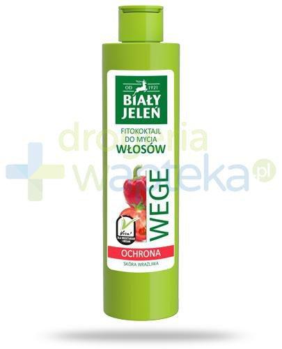 Biały Jeleń Wege Ochrona Fitokoktajl do mycia włosów pomidor i papryka 250 ml [Data w...