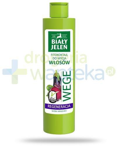 Biały Jeleń Wege Regeneracja Fitokoktajl do mycia włosów burak i bakłażan 250 ml