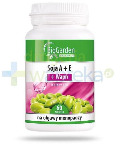 Soja A+E + Wapń 60 tabletek BigGarden  whited-out
