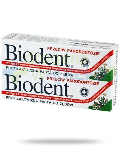 Biodent pasta do zębów przeciw paradontozie 2x 75 g [DWUPAK]  whited-out