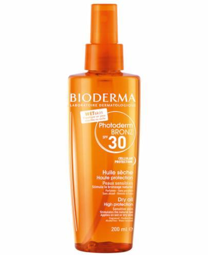Bioderma Photoderm Bronz Huile Seche SPF30 UVA13 ochronny olejek przyspieszający opalani...