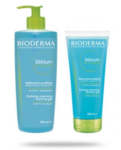 Bioderma Sebium antybakteryjny żel do mycia twarzy 500 ml + 200 ml [GRATIS]