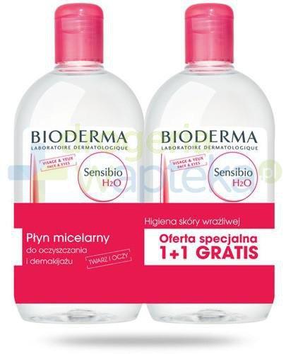 Bioderma Sensibio H20 płyn micelarny 2x 500 ml [DWUPAK]