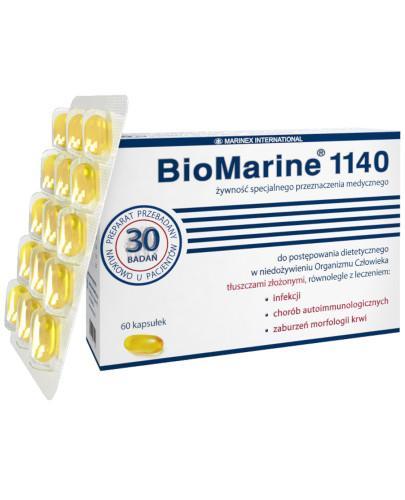 BioMarine 1140 olej z wątroby rekinów tasmańskich 60 kapsułek