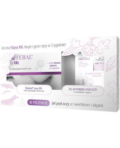 Biotebal rzęsy XXL serum + Flos-Lek żel do powiek i pod oczy 3 ml [ZESTAW]