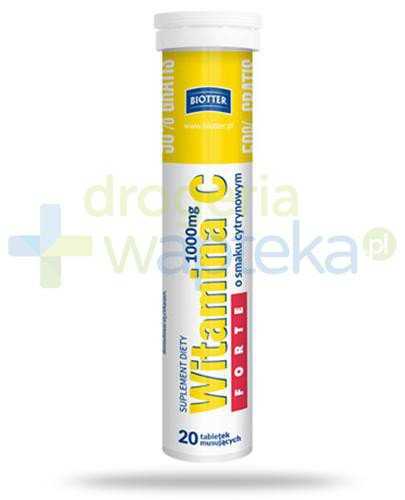 Biotter witamina C Forte 1000mg 20 tabletek musujących  whited-out