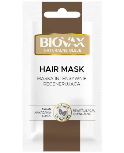 Biovax Argan & Makadamia & Kokos maseczka intensywnie regenerująca do włosów 20 ml