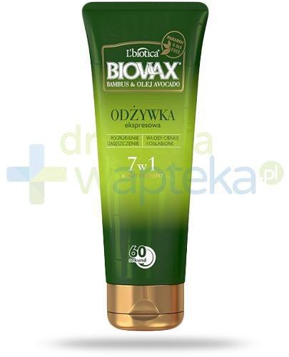 Biovax Bambus & Olej Avocado odżywka ekspresowa 7w1 200 ml
