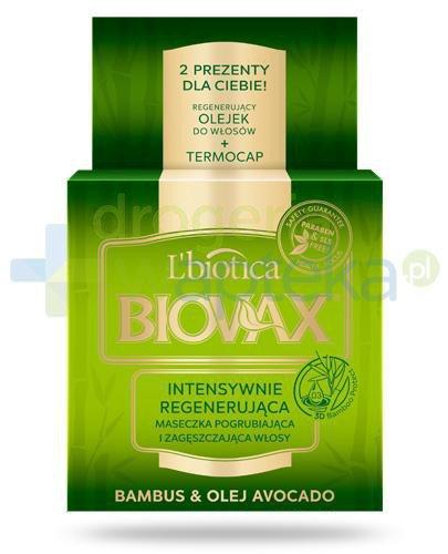Biovax Bambus & Olej Avocado maseczka intensywnie regenerująca do włosów 500 ml  whited-out