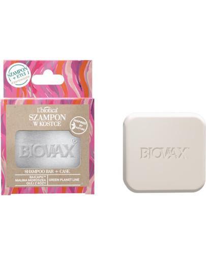 Biovax Botanic Szampon w kostce malina, moroszka i baicapil 82 g + etui