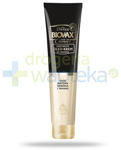Biovax Glamour Caviar odżywczy oleo-krem do włosów 125 ml  whited-out