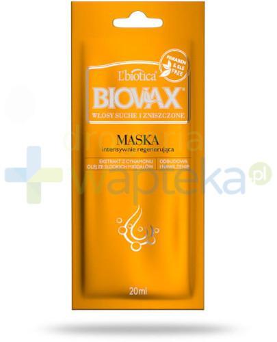 BIOVAX maseczka regenerująca włosy suche i zniszczone 1 saszetka 20ml