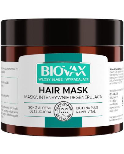 Biovax maska intensywnie regenerująca włosy słabe i wypadające 250 ml