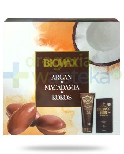 Biovax Naturalne oleje Argan & Makadamia & Kokos szampon 200 ml + odżywka 200 ml + maseczka 20 ml [ZESTAW]