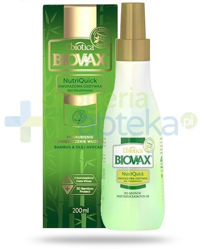 Biovax Bambus & Olej Avocado NutriQuick dwufazowa odżywka bez spłukiwania 200 ml