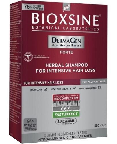Bioxsine DermaGen Forte ziołowy szampon zapobiegający silnemu wypadaniu włosów 300 ml