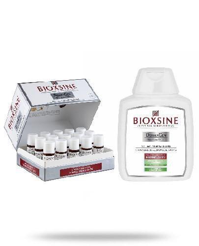Bioxsine DermaGen Serum przeciw wypadaniu włosów 15x 10 ml + szampon przeciwko wypadani...