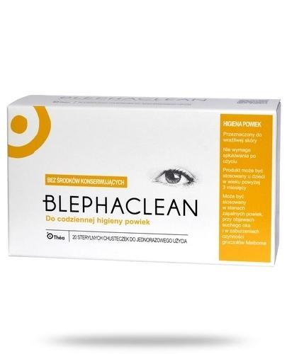 Blephaclean sterylne chusteczki do codziennej pielęgnacji powiek 20 sztuk