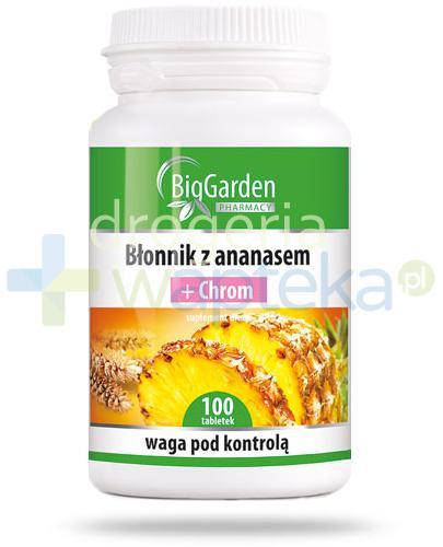 Błonnik z ananasem + chrom 100 tabletek BigGarden