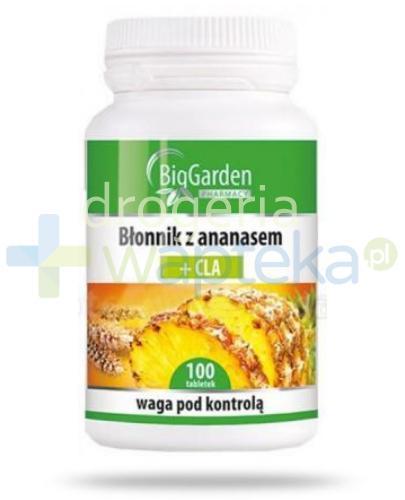 Błonnik z ananasem + CLA 100 tabletek BigGarden
