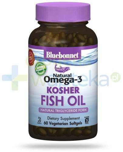 Bluebonnet Nutrition Natural Omega-3 KOSHER Fish Oil, naturalne źródło EPA,DHA,DPA, 60 ...  whited-out