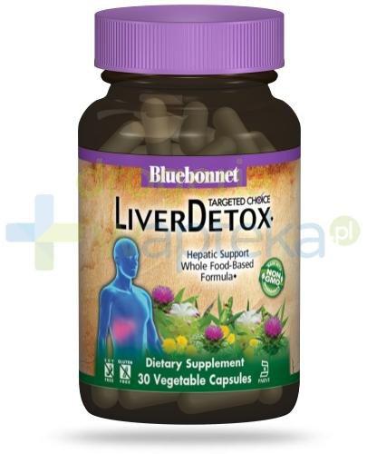 Bluebonnet Nutrition Liver Detox, formuła wspomagająca oczyszczanie wątroby, 30 wegańskich kapsułek