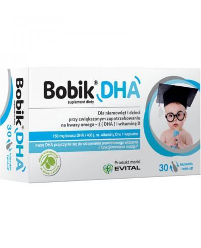 Bobik DHA witamina D3 30 kapsułek