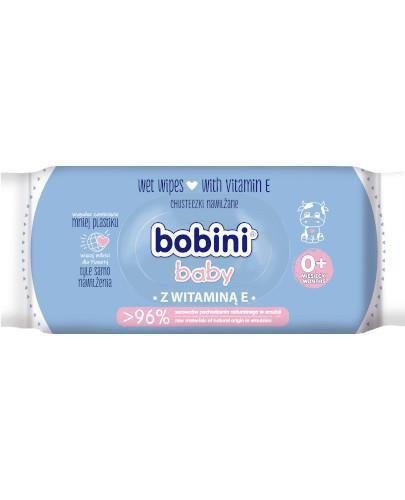 Bobini Baby Chusteczki nawilżane z witaminą E 60 sztuk