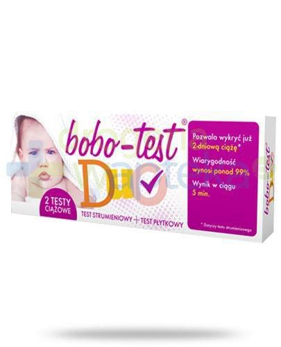 Bobo-Test Duo test ciążowy strumieniowy 1 sztuka + test ciążowy płytkowy 1 sztuka