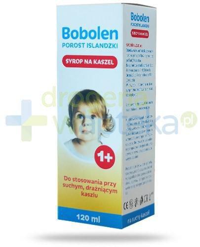 Bobolen porost islandzki syrop na kaszel dla dzieci powyżej 1-go roku życia 120 ml