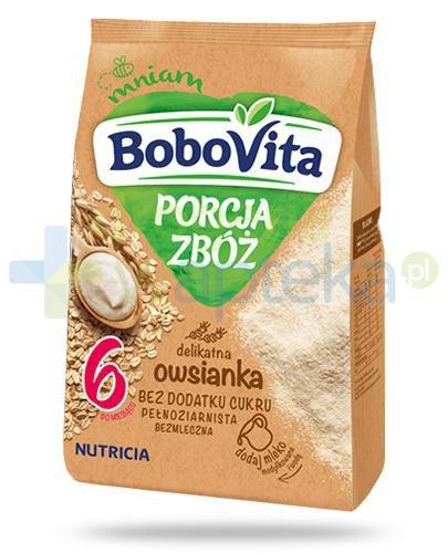 BoboVita Porcja zbóż bezmleczna delikatna kaszka owsianka dla dzieci 6m+ 170 g  whited-out