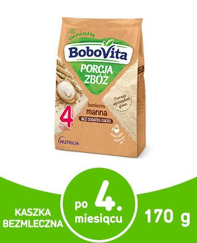 BoboVita Porcja zbóż bezmleczna kaszka manna dla dzieci 4m+ 210 g  whited-out