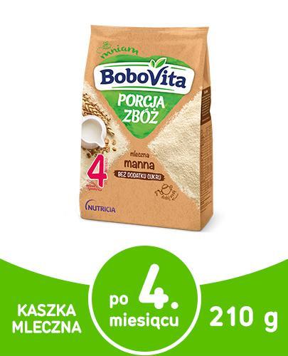 BoboVita Porcja zbóż mleczna kaszka manna dla dzieci 4m+ 210 g  whited-out