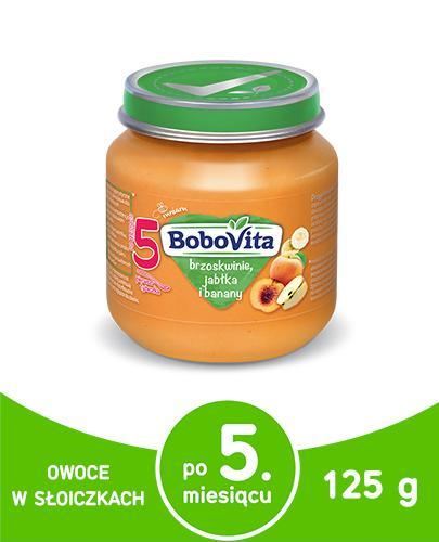 BoboVita przecier z brzoskwiń, jabłek i bananów dla dzieci 5m+ 125 g