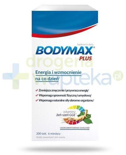 Bodymax Plus wyciąg z żeń-szenia GGE + witaminy 200 tabletek