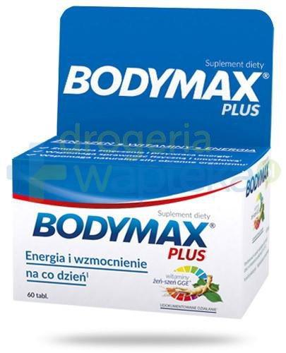 Bodymax Plus wyciąg z żeń-szenia GGE + witaminy 60 tabletek