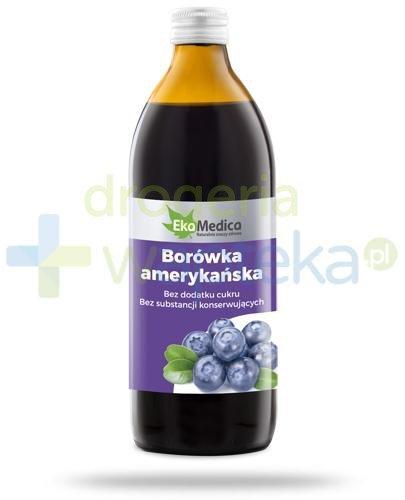 EkaMedica Borówka Amerykańska sok pasteryzowany 500ml