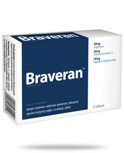Braveran na utrzymanie sprawności seksualnej 8 tabletek