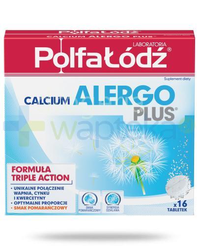 Calcium Alergo Plus Laboratoria Polfa Łódź smak pomarańczowy 16 tabletek musujących