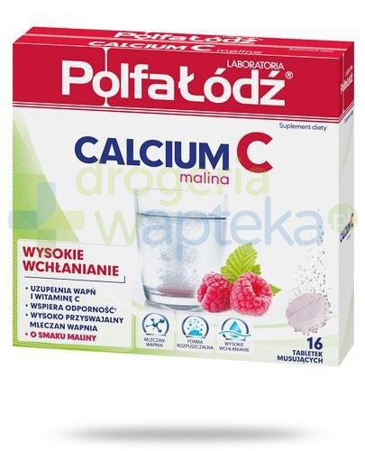 Calcium C Malina Polfa Łódź 16 tabletek [10634]