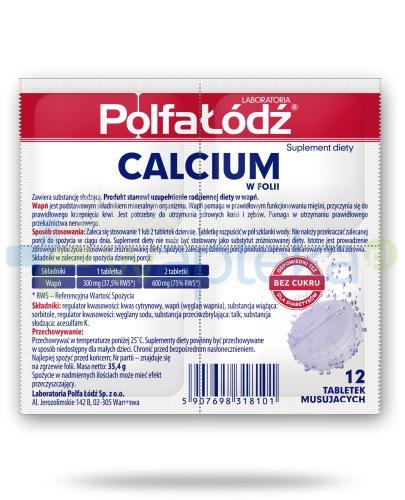 Calcium w folii Laboratoria Polfa Łódź 12 tabletek musujących