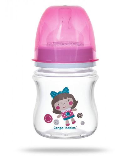 Canpol Babies EasyStart Toys butelka szeroka antykolkowa różowa 120 ml [35/220_pin]