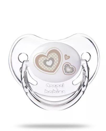Canpol Babies Newborn Baby smoczek silikonowy anatomiczny 0-6m beżowy 1 sztuka [22/565_be...