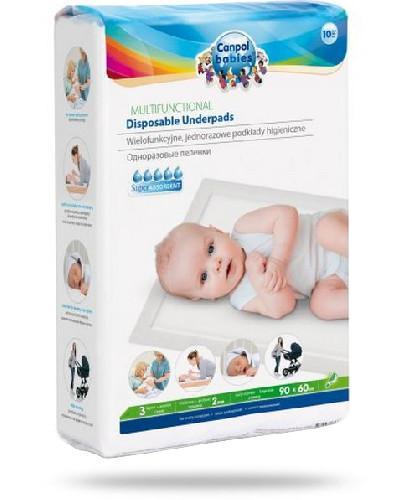 Canpol Babies wielofunkcyjne jednorazowe podkłady higieniczne 90 x 60 cm 10 sztuk [78/002...