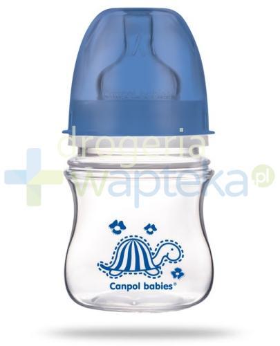 Canpol Babies EasyStart butelka szerokootworowa antykolkowa kolorowe zwierzęta 120 m...