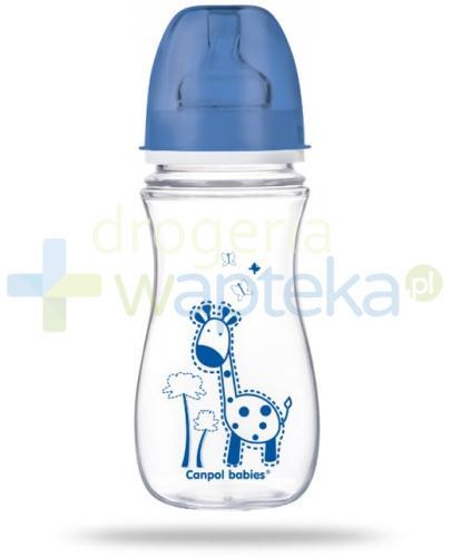 Canpol Babies EasyStart butelka szerokootworowa antykolkowa kolorowe zwierzęta 300 m...