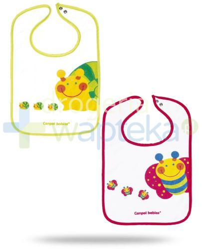 Canpol Babies śliniak bawełniany z zatrzaskiem motylek ślimaczek z kolekcji wesoły ogród 1 sztuka [15/104]