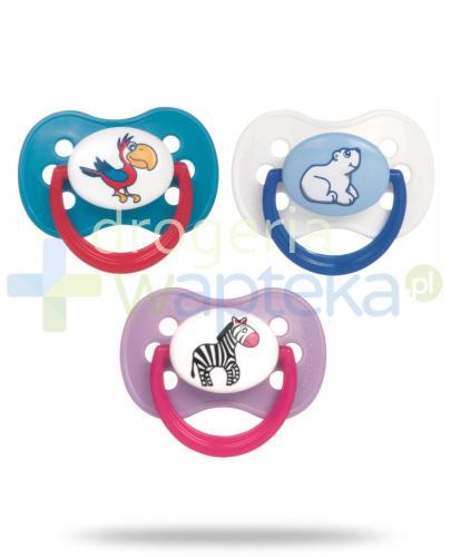 Canpol Babies smoczek silikonowy okrągły animals 18+ miesięcy 1 sztuka [22/515]